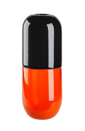 Vase Happy Pills noir et rouge par Venini et Fabio Novembre.