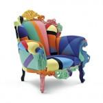 Le fauteuil Proust Geometrica d'Alessandro Mendini, édité par Cappellini
